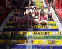 Estudantes da Alemanha na Selaron